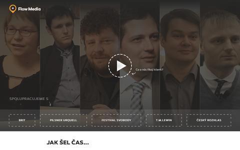 Screenshot of Home Page flowmedia.cz - Flow Media - strategická digitální agentura - captured Aug. 3, 2015