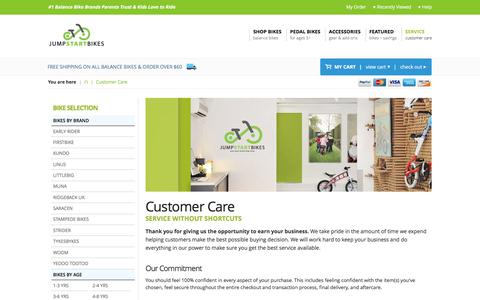 Screenshot of Privacy Page Support Page jumpstartbikes.com - Customer Service and Care : Jump Start Bikes - captured June 8, 2017