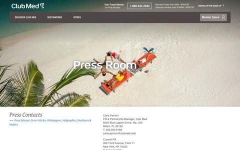 Screenshot of Press Page clubmed.us - Press Room - captured Oct. 20, 2016