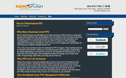 Screenshot of Blog kerrsplash.com - Kerrsplash Digital Tips for Small Business Digital Marketing - captured Sept. 30, 2014