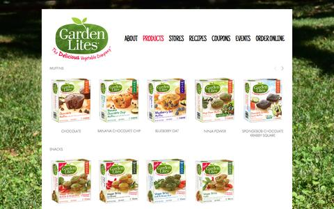 Screenshot of Products Page gardenlites.com - Products — Garden Lites - captured Jan. 28, 2016