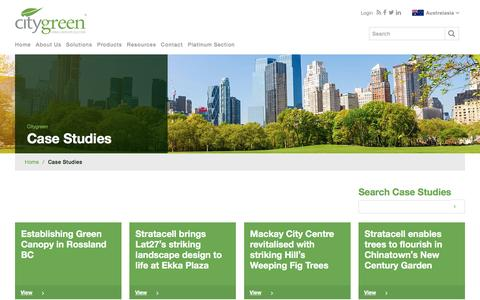 Screenshot of Case Studies Page citygreen.com - Case Studies Archive - Citygreen - captured July 13, 2016