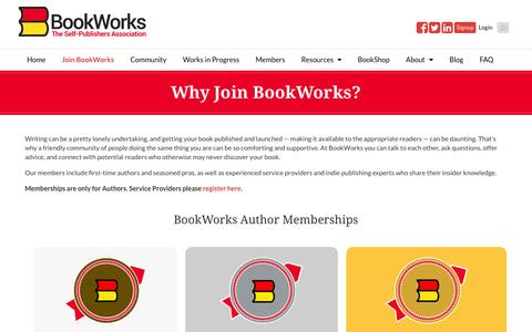 Screenshot of Signup Page bookworks.com - Why Join BookWorks? - BookWorks - captured Feb. 5, 2016