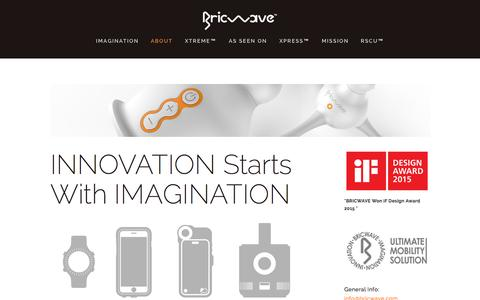 Screenshot of About Page bricwave.com - Innovation Starts With ImaginationBRICWAVE - captured Sept. 25, 2015