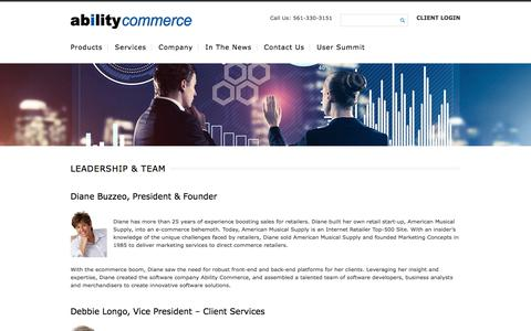 Screenshot of Team Page abilitycommerce.com - Leadership & Team | Ability Commerce - captured March 2, 2018