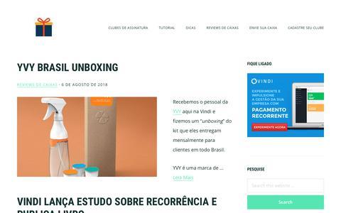 Screenshot of Home Page sitedeassinatura.com - Site de Assinatura - Clubes de assinaturas e dicas de negócios recorrentes - captured Sept. 24, 2018