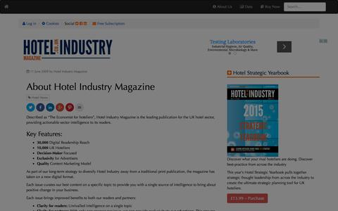 Screenshot of About Page hotel-industry.co.uk - About Hotel Industry Magazine   | Hotel Industry Magazine - captured Jan. 14, 2016