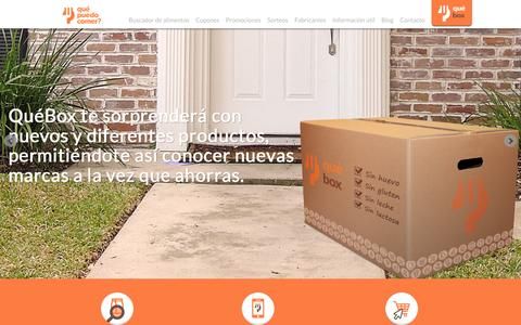 Screenshot of Home Page quepuedocomer.es - QuŽ Puedo Comer   Buscador de alimentos permitidos segœn alergias - captured Dec. 15, 2015