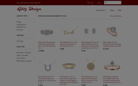 Screenshot of Home Page glitzdesign.us - Glitz Design Diamonds & Jewelry - captured Jan. 22, 2016