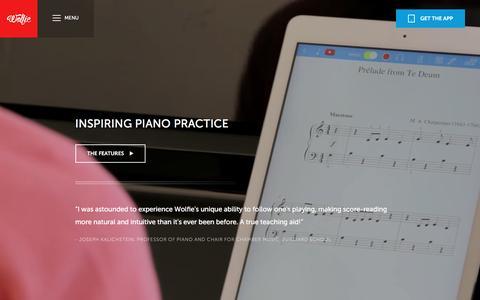 Screenshot of Maps & Directions Page tonara.com - Wolfie for piano app - Tonara and Wolfie for Piano - captured Jan. 27, 2016