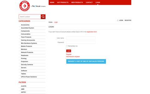 Screenshot of Login Page 2by2.be - Login - 2BY2 - captured Oct. 20, 2018