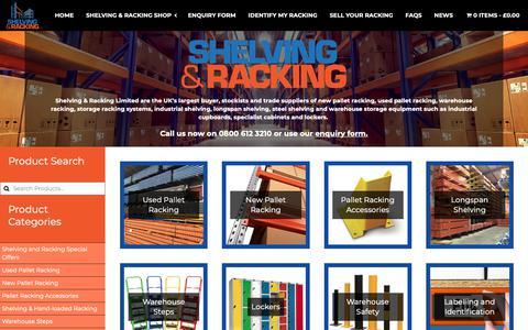 Screenshot of Home Page shelving-racking-limited.co.uk - Home - Shelving & Racking Ltd. - captured June 11, 2019