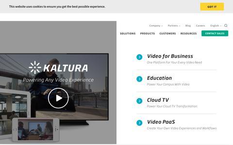 Kaltura Video Platform - Powering Any Video Experience