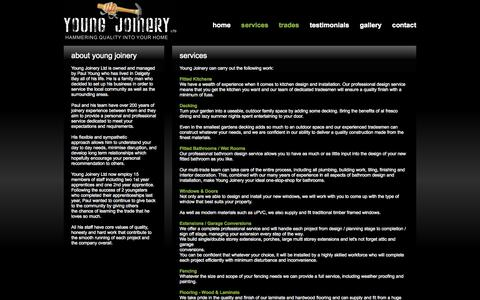 Screenshot of Services Page young-joinery.co.uk - Contact Details :: Young Joinery - captured Oct. 27, 2014
