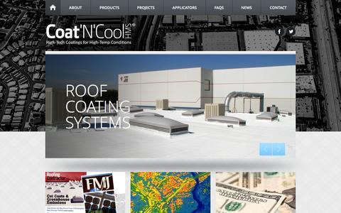 Screenshot of Home Page coatncool.com - Coat 'N' Cool Roof Coatings - captured March 16, 2016