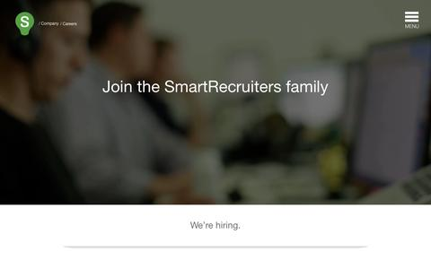 Screenshot of Jobs Page smartrecruiters.com - Careers | SmartRecruiters - captured Oct. 10, 2014