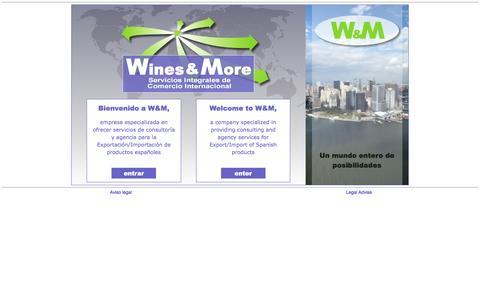 Screenshot of Home Page winesandmore.es - Comercio Internacional, Exportación de vinos - W&M - captured June 5, 2016