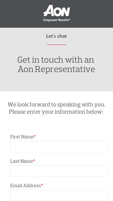 Talk with Aon