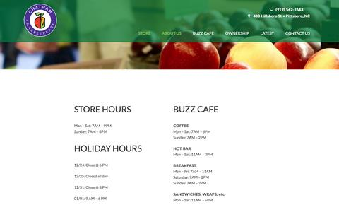 Screenshot of Hours Page chathammarketplace.coop -   Chatham Marketplace - captured May 16, 2017