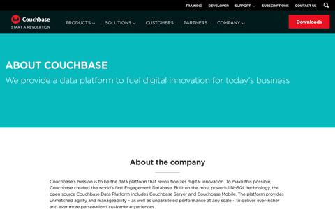 Screenshot of About Page couchbase.com - About Us | Couchbase - captured Sept. 28, 2017