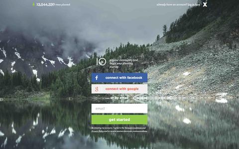 Screenshot of Login Page tentree.com - Customer Login  | tentree - official online shop - captured June 17, 2017