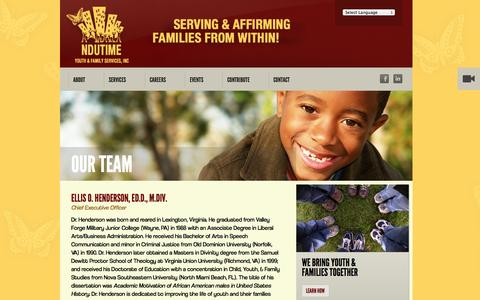Screenshot of Team Page ndutime.org - NDUTIME | Our Team - captured Oct. 26, 2014