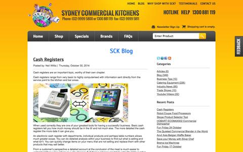 Screenshot of Blog sydneycommercialkitchens.com.au - Sydney Commercial Kitchens Blog - captured Nov. 2, 2014