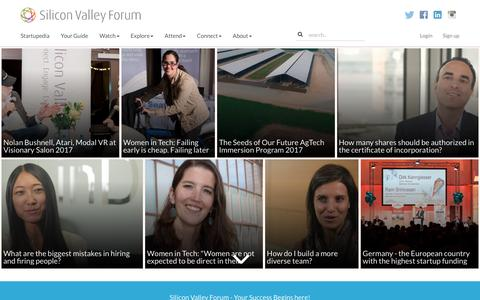 Screenshot of Home Page siliconvalleyforum.com - Silicon Valley Forum - captured May 4, 2017