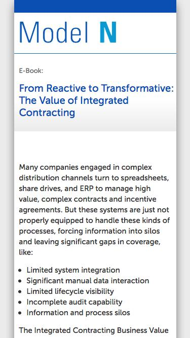 E-Book: From Reactive to Transformative: The Value of Integrated Contracting
