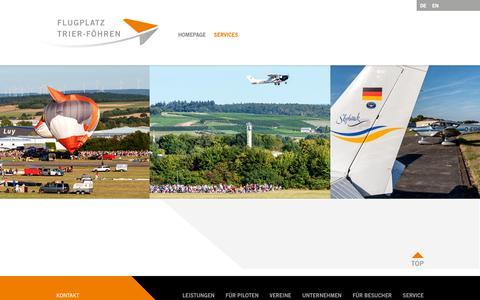 Screenshot of Services Page flugplatz-trier.de - Flugplatz Trier-Föhren - captured Oct. 29, 2018