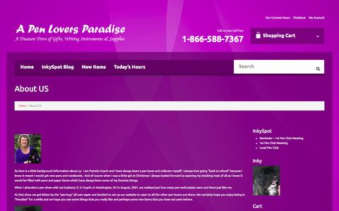Screenshot of About Page penloversparadise.com - About US - A Pen Lovers ParadiseA Pen Lovers Paradise - captured Nov. 2, 2014