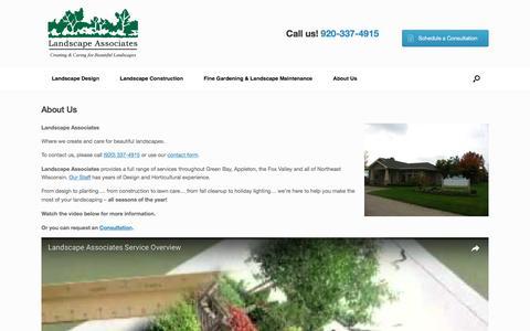 Screenshot of About Page landscape-associates.com - About Us | Landscape Associates - captured May 14, 2017