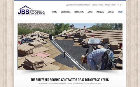 Screenshot of Blog jimbrownandsonsroofing.com - Blog  | Jim Brown & Sons - captured Sept. 30, 2014