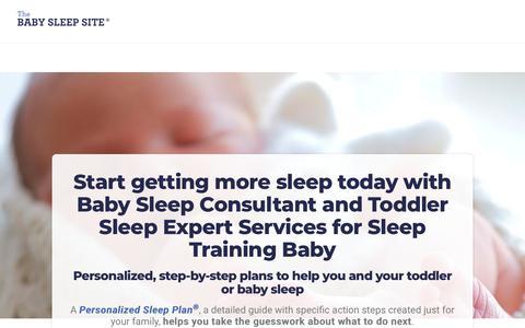 Screenshot of Services Page babysleepsite.com - Baby Sleep Consultants for Sleep Training Baby | The Baby Sleep Site - Baby / Toddler Sleep Consultants - captured June 7, 2019