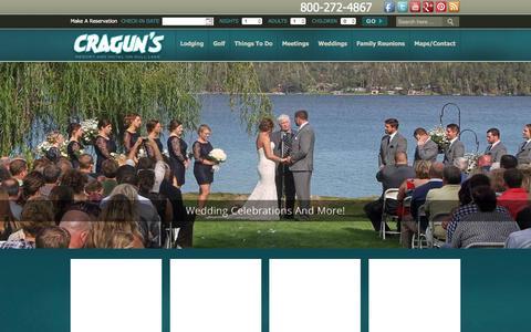 Screenshot of Home Page craguns.com - Brainerd Resort on Gull Lake in Central Minnesota   Cragun's Resort - captured March 11, 2016