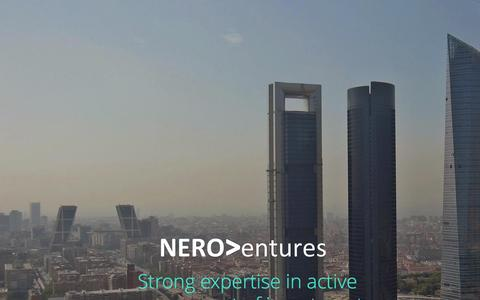Screenshot of Home Page neroventures.com - Nero Ventures   Fostering companies to success - captured Jan. 11, 2016