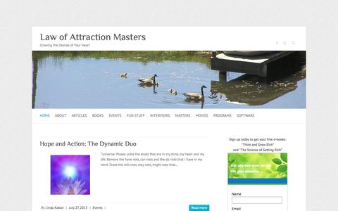 Screenshot of Home Page law-of-attraction-masters.com - Law Of Attraction Masters | Law of Attraction Mastery - captured June 13, 2016