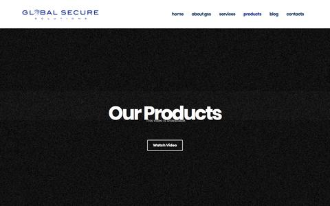 Screenshot of Products Page globalsecuresolutions.com - Products – Global Secure Solutions - captured July 20, 2018