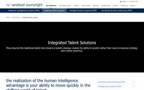 Global Integrated Talent Management Solutions | Randstad Sourceright | Randstad Sourceright