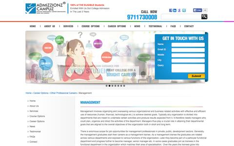 Screenshot of Team Page admizzionzcampuz.com - Management Course,  Management College Admission Consultant in India - Admizzionz Campuz - captured Sept. 30, 2014