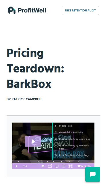 Screenshot of Pricing Page  priceintelligently.com - BarkBox Pricing Page Teardown