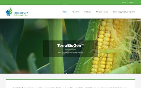 Screenshot of Home Page terrabiogen.com - Home - Terrabiogen - captured Nov. 18, 2018