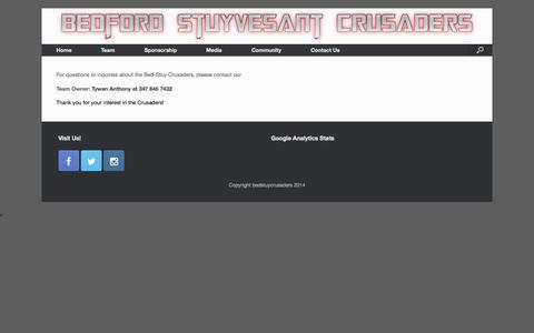 Screenshot of Contact Page bedstuycrusaders.com - Contact Us | My Website - captured Oct. 5, 2014