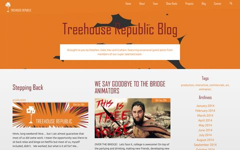 Screenshot of Blog treehouserepublic.com - Blog | Treehouse Republic - captured Nov. 5, 2014