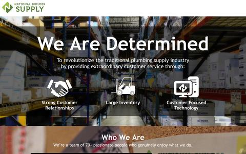 Screenshot of About Page nationalbuildersupply.com - National Builder Supply - About US - captured Oct. 27, 2014