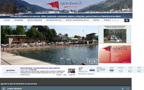 Screenshot of Home Page gerardmer.fr - Location vacances Gerardmer location chalet Gérardmer Vosges Hotel Gérardmer Chambre d'hotes Gérardmer Location Chalet La Bresse - GERARDMER - captured Oct. 16, 2015