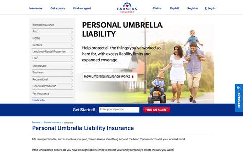 Umbrella Insurance & Umbrella Liability Insurance : Farmers Insurance