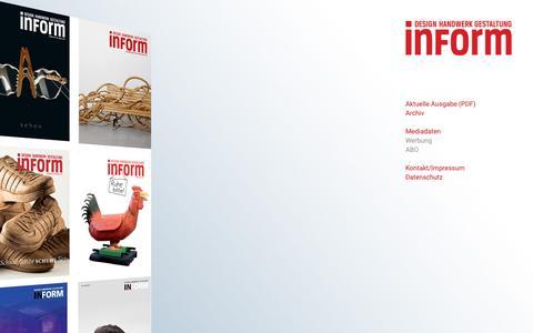 Screenshot of Home Page inform-magazin.com - Inform Magazin - captured Oct. 22, 2018