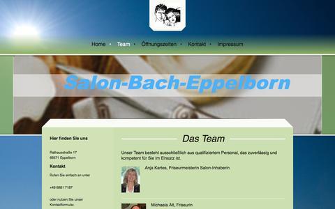 Screenshot of Team Page salon-bach-eppelborn.de - - Team - captured June 8, 2016