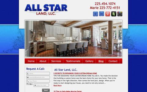 Screenshot of Blog allstarlandllc.com - Blog - All Star Land - captured May 29, 2017